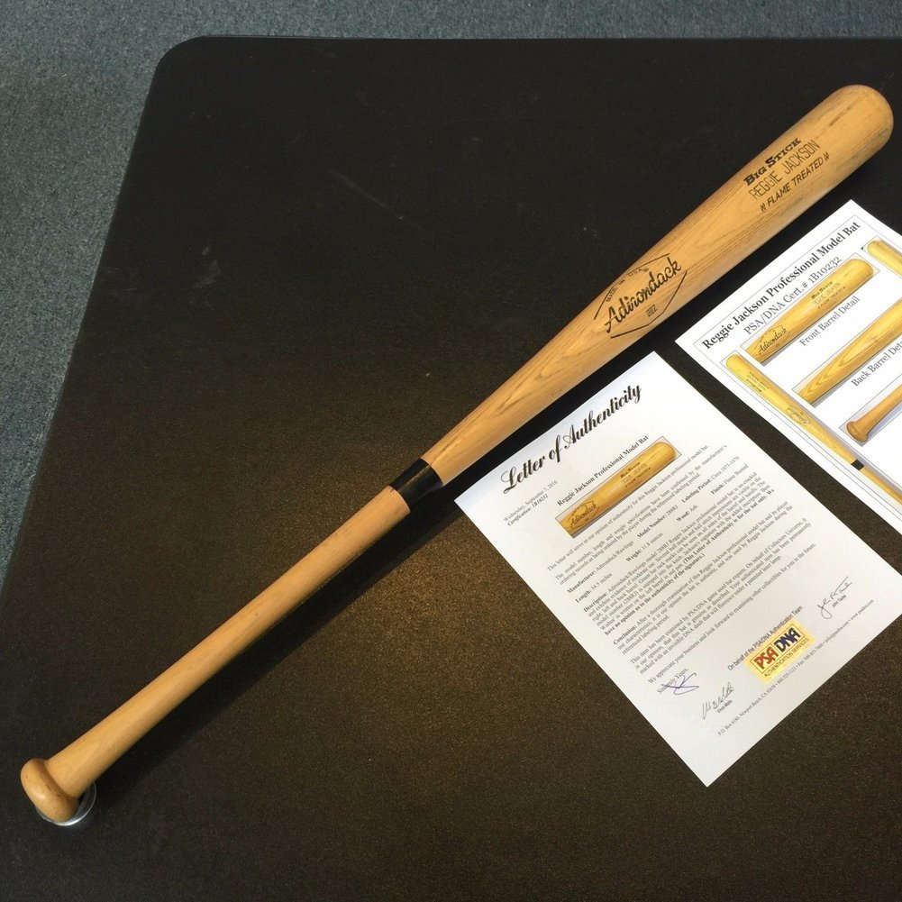1977 Reggie Jackson New York Yankees Playoffs Autographed Game Used Bat - PSA/DNA Certified Image a
