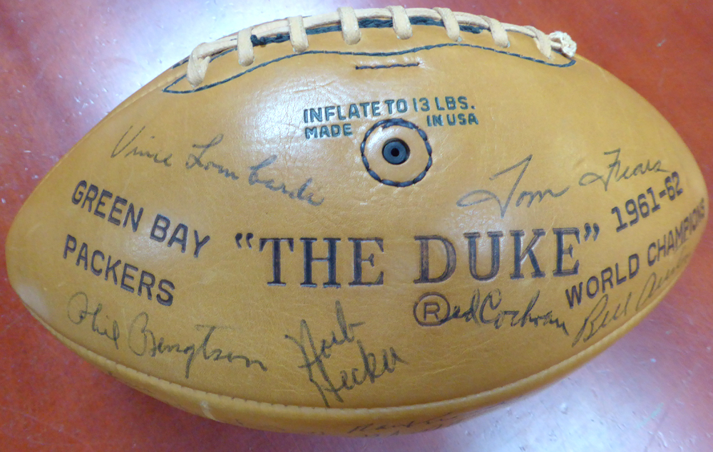 1963 Green Bay Packers Team Autographed Official Wilson Football With 45 Signatures Including Vince Lombardi - PSA/DNA Certified Image a