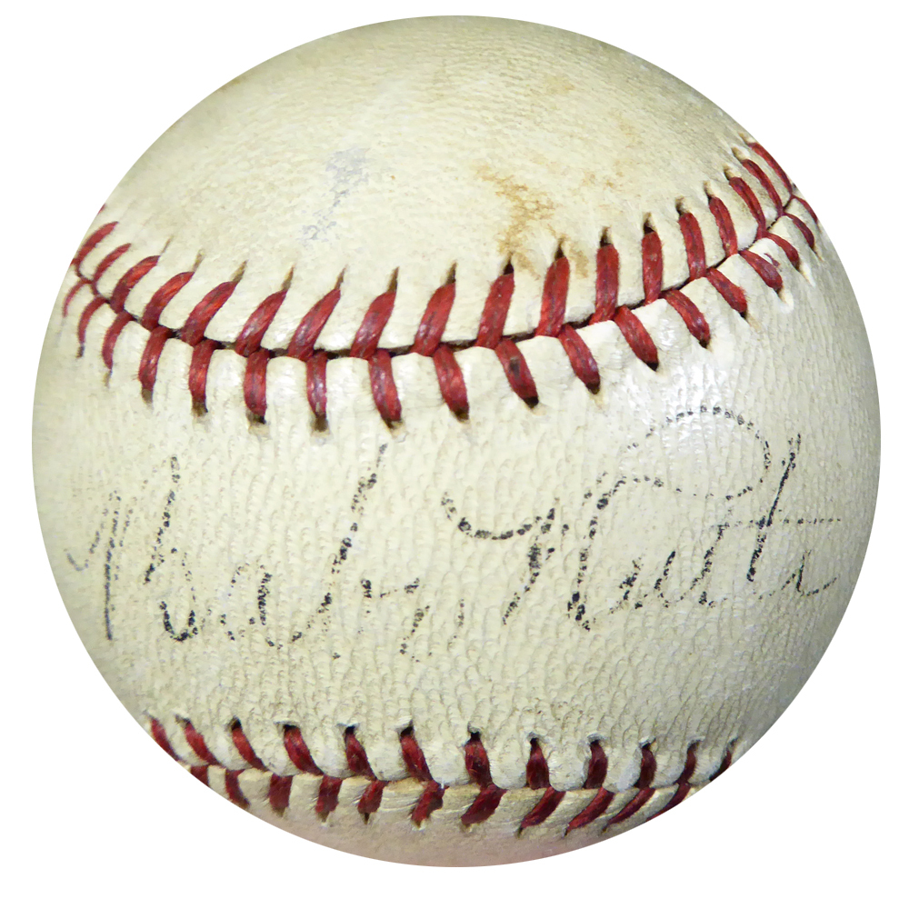 Babe Ruth Autographed Official National League Ford Frick Baseball - PSA/DNA Certified Image a